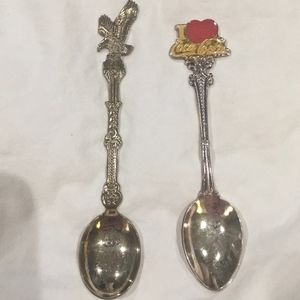 Set of 2 Vintage Collectible Souvenir Spoons
